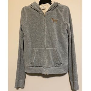 Pink Victoria's Secret gray hoodie with se…